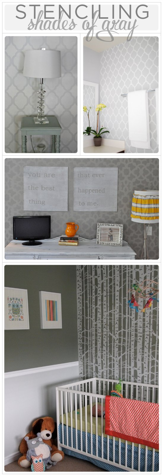 Don't be afraid of using gray when painting with Cutting Edge Stencils!