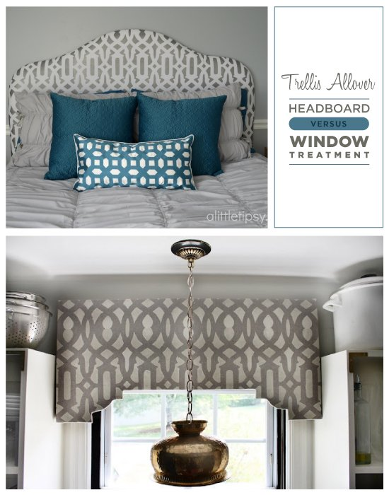 Which do you prefer: stenciled Headboards or stenciled Window Treatments?!