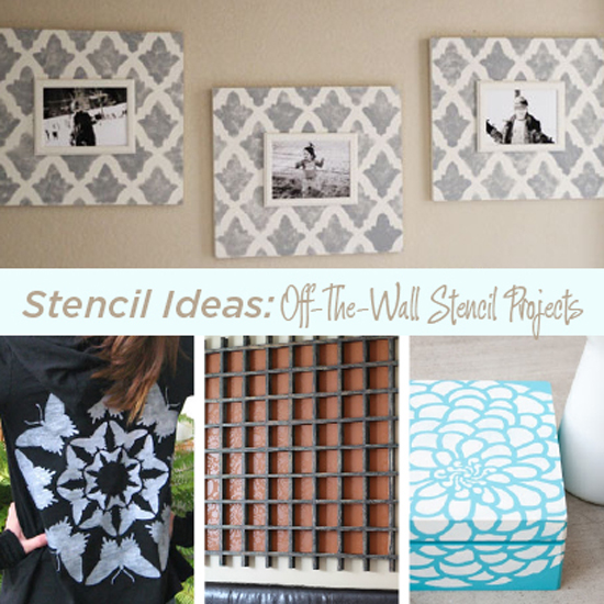 Creative stenciled craft projects with Cutting Edge Stencils