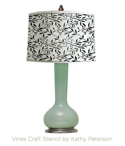 Vines Craft Stenciled Lamp Shade with Cutting Edge Stencils