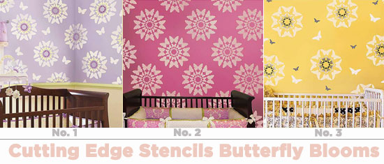 Cutting Edge Stencils Wall Painting Stencils: Butterfly Blooms