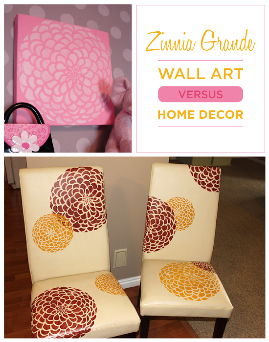 Which do you prefer: Stenciled Wall Art or Stenciled Home decor?