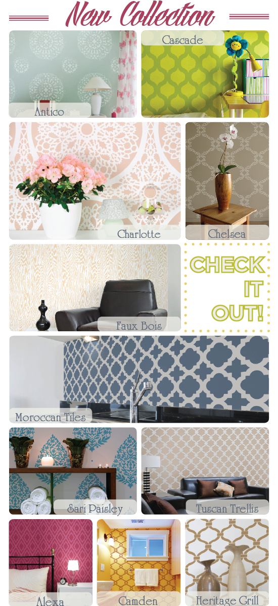 Cutting Edge Stencils presents our NEWEST stencil collection!