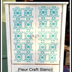 Using the Fleur Craft Stencil by Kathy Peterson to redo this DIY Armoir! http://www.cuttingedgestencils.com/Fleur-Craft-Stencil-Kathy-Peterson.html