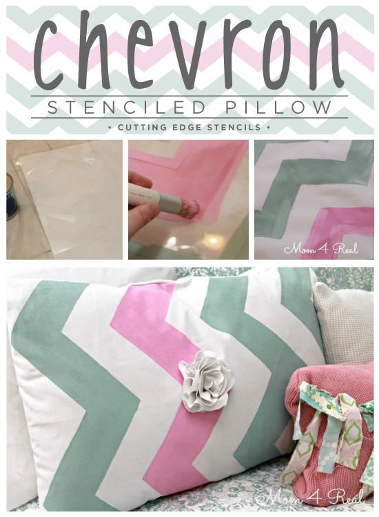 Love this! DIY throw pillow using the Chevron Stencil from Cutting Edge Stencils. http://www.cuttingedgestencils.com/chevron-stencil-pattern.html