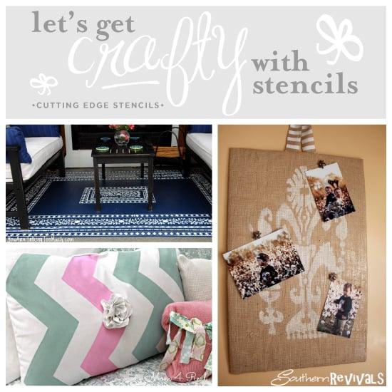 Three Amazing DIY craft stencil ideas and $75 stencil giveaway!