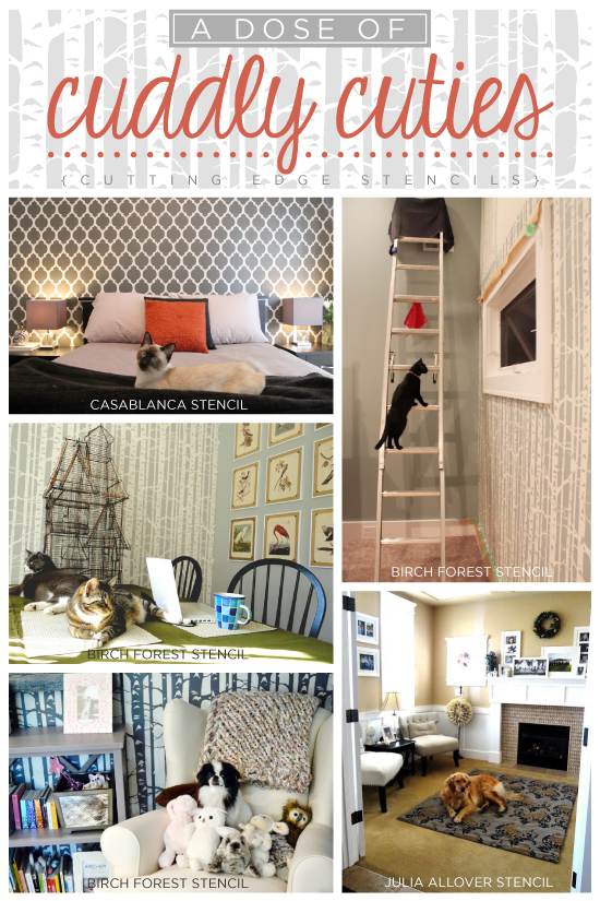 Five great diy stencil ideas to add an accent wall to your home decor. www.cuttingedgestencils.com