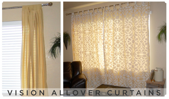 Fabulous Idea! Vision Allover Stenciled curtains give a designer look for a fraction of the price!
