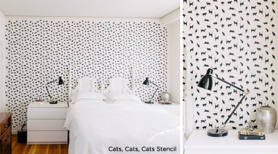 Love This Stencil Use Cats From Cutting