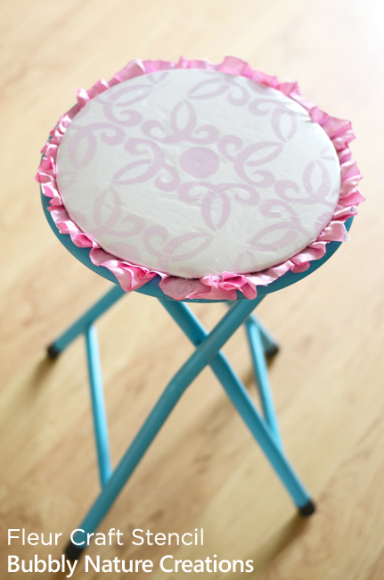Add the Fleur Craft Stencil from Cutting Edge Stencil to create the perfect DIY stool! http://www.cuttingedgestencils.com/Fleur-Craft-Stencil-Kathy-Peterson.html