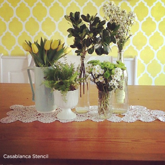 Benjamin Moore Starts A Trend With Stenciled Kitchen: Stenciling With Spring Color Trends