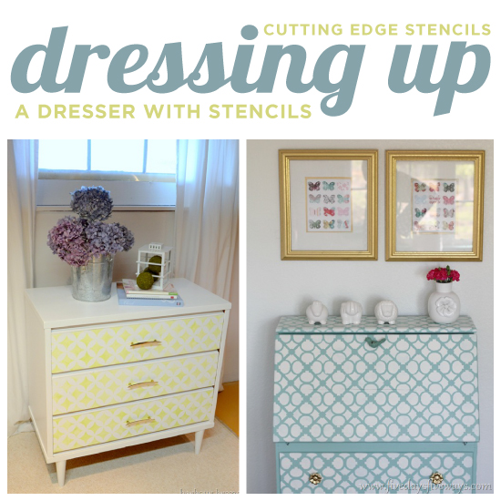 Charmant Using Stencils From Cutting Edge Stencils Is An Easy Way To Update Old  Furniture Like Dressers