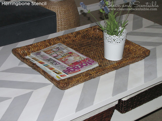 Glam up an old table top using the Herringbone Stencil from Cutting Edge Stencils. . http://www.cuttingedgestencils.com/herringbone-stencil-pattern.html