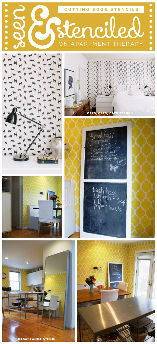 Two Great Stencil Room Ideas Found On Apartment Therapy By Diy Home Owners Looking To Makeover
