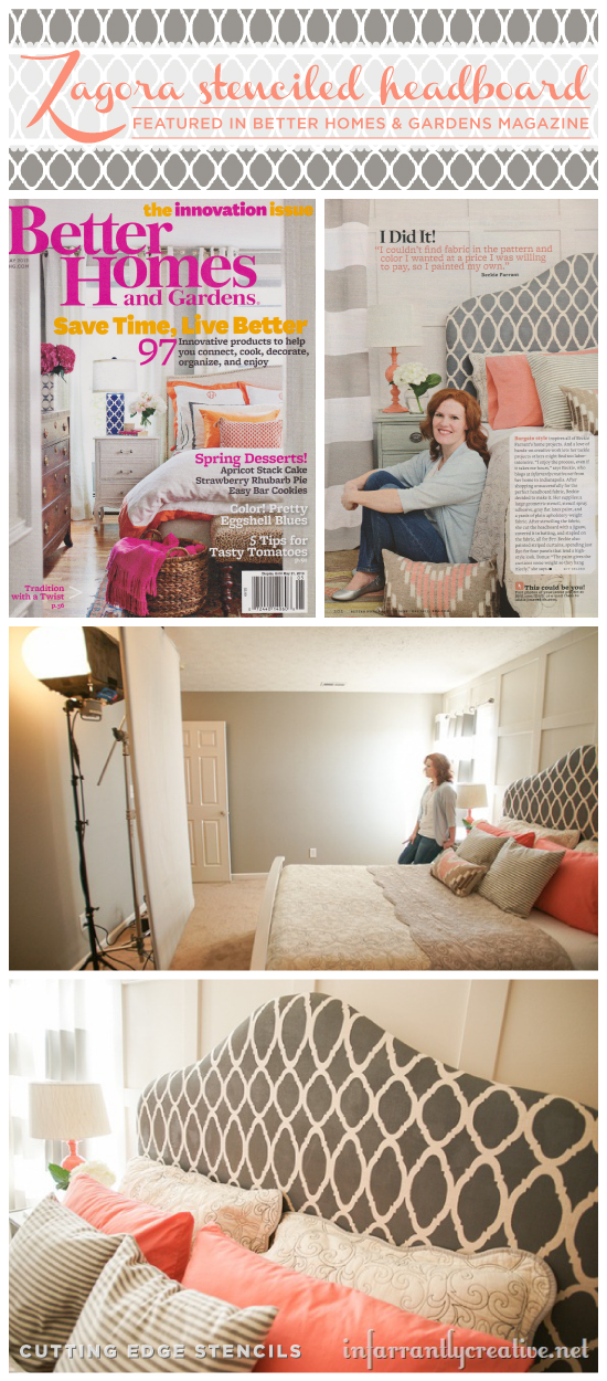 Better Homes & Gardens Spotlights the Zagora Stenciled ... on better homes gardens room additions, seventeen bedroom decorating, real life bedroom decorating, martha stewart bedroom decorating, country home bedroom decorating, better homes and gardens entryway decorating, bedroom colors home and garden decorating,