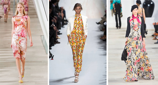 As see on the Spring 2013 runways big bold florals are super trendy. Image from Elle.com