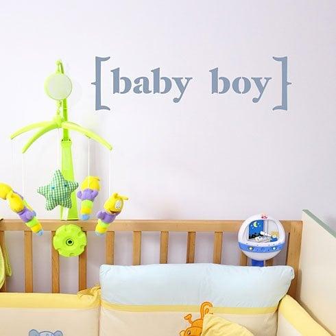 Add the Baby Boy Wall Quote Stencil to your nursery wall! http://www.cuttingedgestencils.com/baby-boy-quote-wall-stencil.html