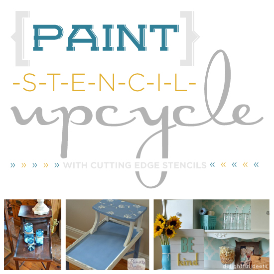 Stencils and paint can upcycle old furniture! http://www.cuttingedgestencils.com/craft-furniture-stencils.html