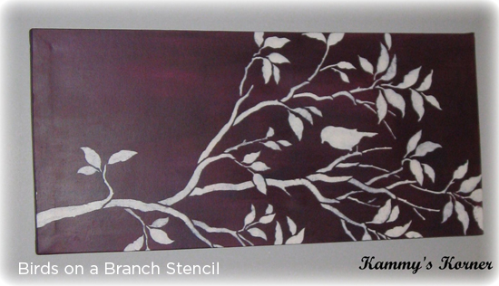Stencil your own purple wall art using the Birds on a Branch Stencil! http://www.cuttingedgestencils.com/wall-stencil-branch.html