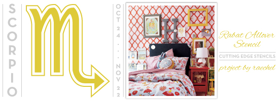 Use the Rabat Stencil in bold red and pink hues for a girls room! http://www.cuttingedgestencils.com/moroccan-stencil-pattern-3.html