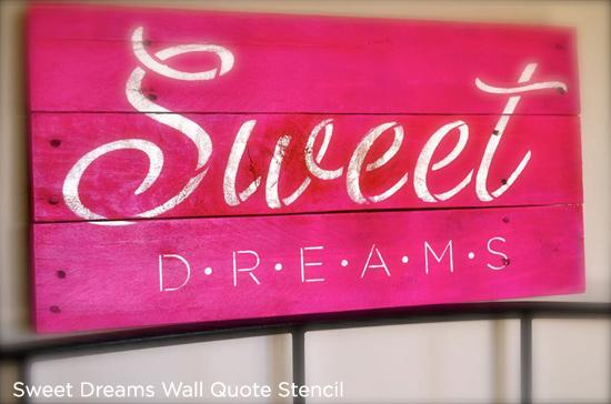 Sweet Dreams Wall Stencil on reclaimed wood is super sweet wall art! http://www.cuttingedgestencils.com/quote-wall-stencil-sweet-dreams-DIY.html
