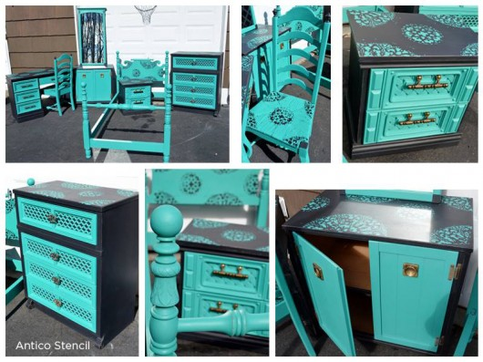 Genial Painted And Stenciled Furniture Using The Antico Stencil From Cutting Edge  Stencils. Http:/