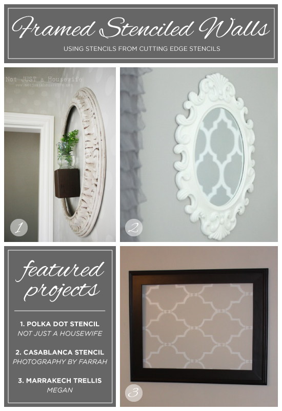 Stenciled framed stenciled and framed diy wall art using stencils from cutting edge stencils http solutioingenieria Images