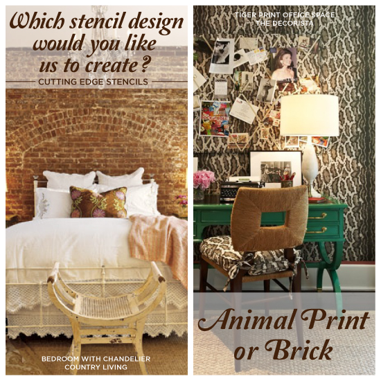 How To Get This New Décor Trend At Home: Which Stencil Design Would You Prefer Us To Design