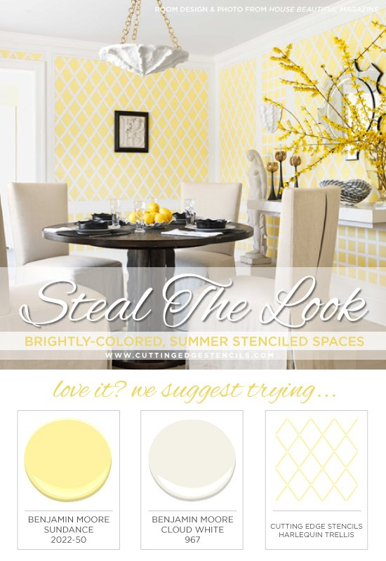 Steal The Look Brightly Colored Summer Stenciled Spaces Stencil Stories