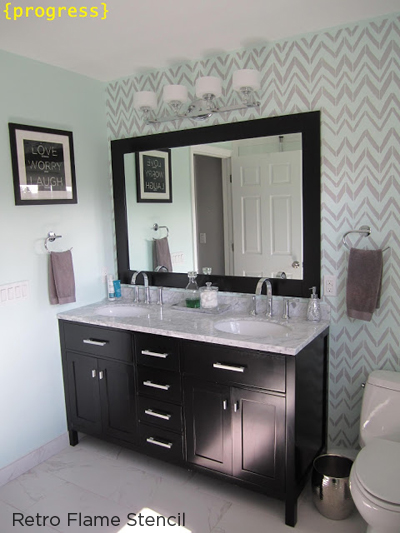Would You Stencil An Accent Wall? on stripe designs for dining rooms, designs painted striped walls, striped bathroom walls,