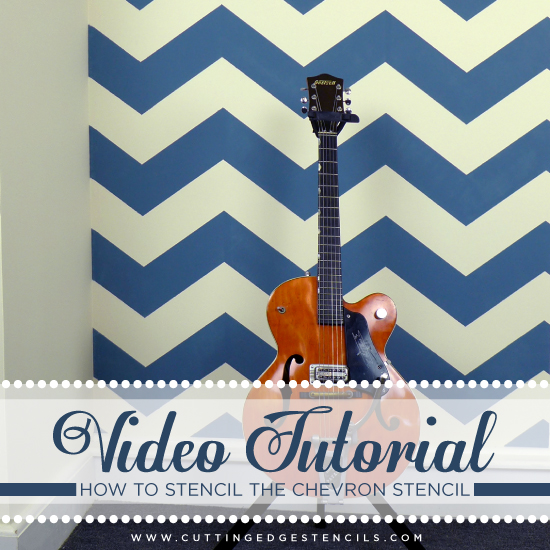 Cutting Edge Stencils shares a video tutorial and step by step instructions on how to paint the trendy zig-zag Chevron stripe! http://www.cuttingedgestencils.com/chevron-stencil-pattern.html#desc