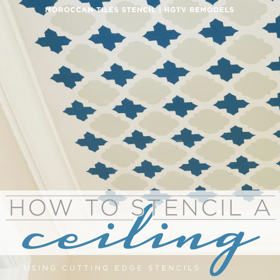 Stencil A Fun Pattern Like The Moroccan Tiles Using Cutting Edge Stencils And This Easy How