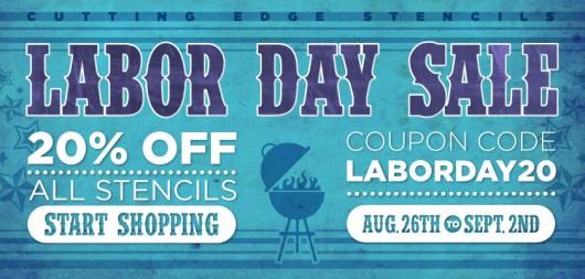Stencil Sale! Take 20% all Cutting Edge Stencils through Labor Day. Shop Now: http://www.cuttingedgestencils.com/wall-stencils.html