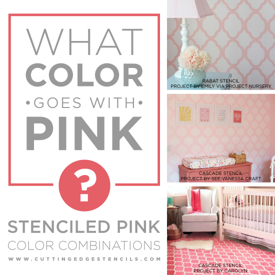 Stenciled Pink Color Combinations Using Cutting Edge Stencils And Benjamin Moore Paints Http