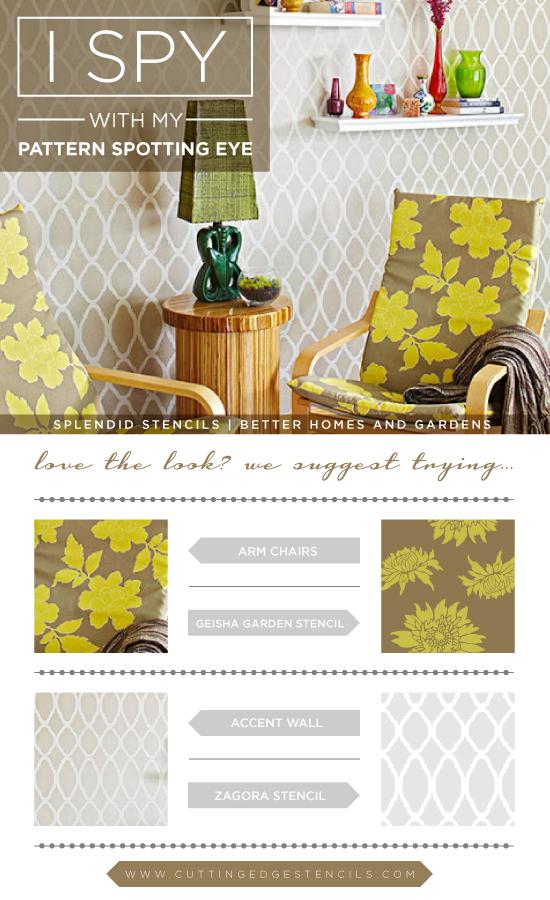 Use stencils to get these gorgeous designer home decor looks! http://www.cuttingedgestencils.com/trellis-allover-stencil.html