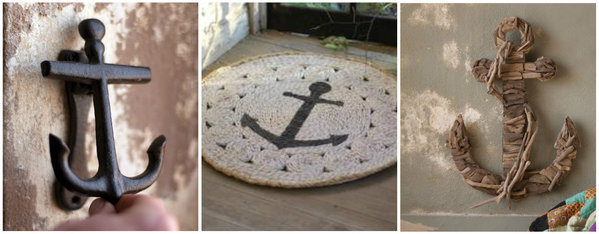 Use nautical stencils to get a similar look to these anchor home decor items! http://www.cuttingedgestencils.com/beach-decor-stencils-designs-nautical.html