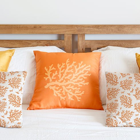 Use the Coral Stencil or the Coral Craft Stencil to create an adorable diy pillow! http://www.cuttingedgestencils.com/coral-stencil-beach-style-decor.html
