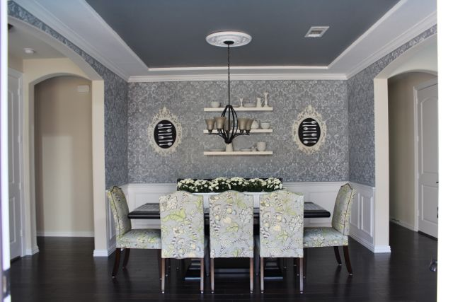 Then Shawne Used Our Cascade Stencil To Create A Geometric Accent Wall In Her Dining Room She Had This Say About Stenciling Adventure