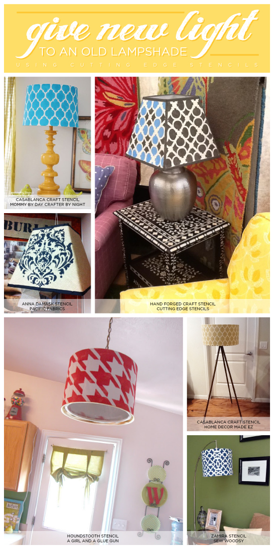 Give New Light To An Old Lamp Shade Using Stencils