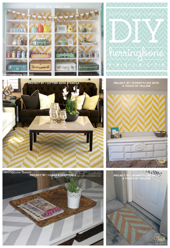 LA Times mentions that Cutting Edge Stencils' Herringbone pattern is great for DIY decorating for new home and apartment buyers! http://www.cuttingedgestencils.com/herringbone-stencil-pattern.html