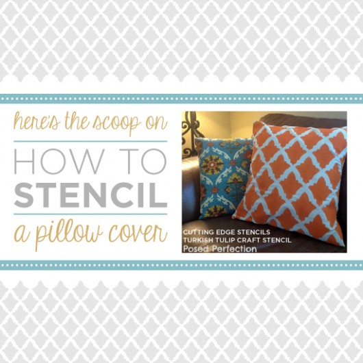 Here's the scoop on how to stencil a pillow cover using the Nagoya Stencil from Cutting Edge Stencils! http://www.cuttingedgestencils.com/nagoya-furniture-stencil.html