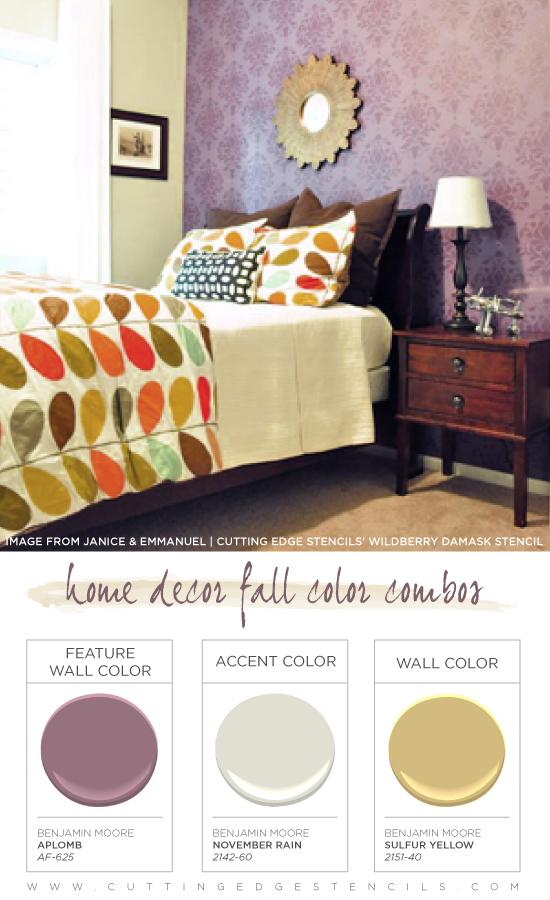 Home Decor Fall Color Combinations Using Benjamin Moore ...