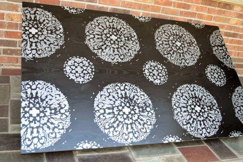 Stencil the Antico pattern from Cutting Edge Stencils.