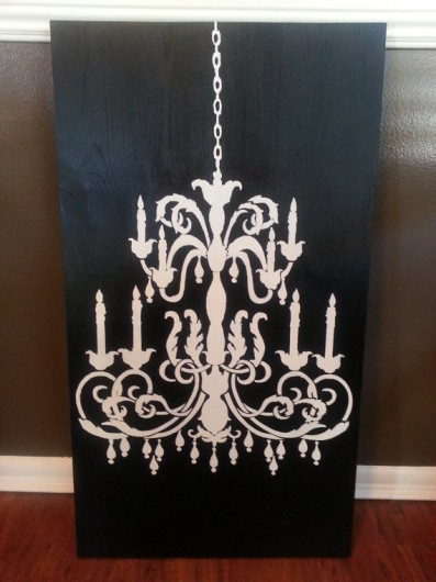 Home decor trend stenciling in black white stencil trendy black and white wall art using the chandelier stencil from cutting edge stencils aloadofball Image collections