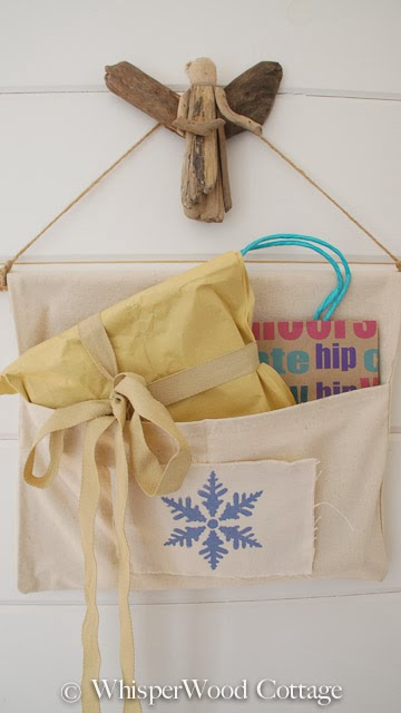 Create a snowflake stenciled organizer for the Holidays using Cutting Edge Stencils. http://www.cuttingedgestencils.com/snowflake-stencils.html