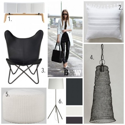 Black and White home decor items spotted on BHG. http://www.bhg.com/blogs/better-homes-and-gardens-style-blog/category/runway-to-color-palette/