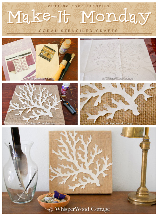 Make It Monday Coral Stenciled Crafts