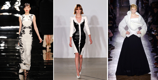 Elle Decor black and white runway fashion translates to home decor.