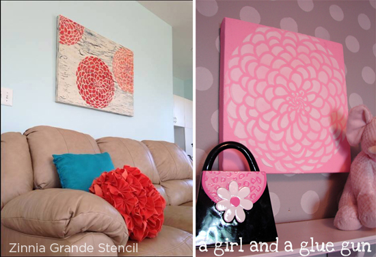 Weekend DIY Project: Stenciled Canvas Wall Art