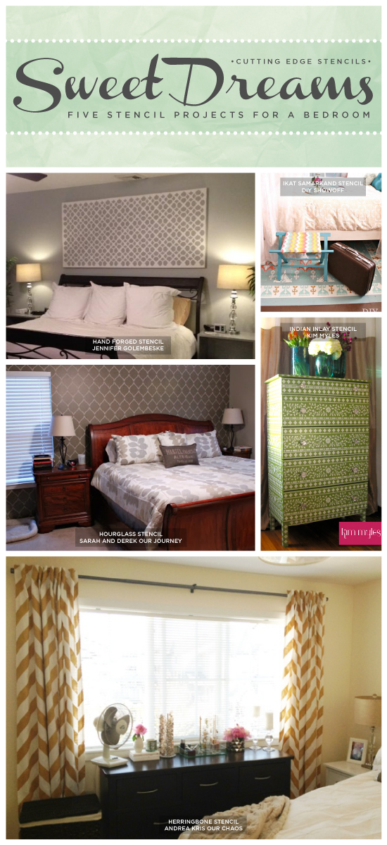 Sweet Dreams Five Stencil Projects For A Bedroom